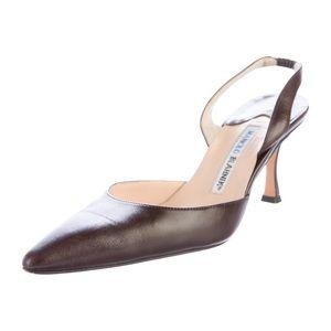 Manolo Blahnik Carolyne sling back heels